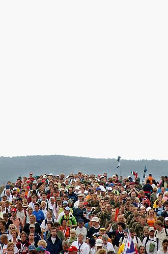 Nederland, Nijmegen, 21-7-2005<br /> Vierdaagse, 4daagse. Op de Zevenheuvelenweg. Derde, Groesbeek dag. Wandelen, wandelsport, recreatie, conditie, bewegen, beweging, lopen. wandelaars, gezondheid.<br /> Foto: Flip Franssen/Hollandse Hoogte