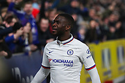 Chelsea defender Fikayo Tomori (29) celebrates after scoring his team's second goal during The FA Cup match between Hull City and Chelsea at the KCOM Stadium, Kingston upon Hull, England on 25 January 2020.