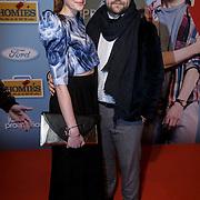 NLD/Amsterdam/20150119 - Premiere film Homies, Marly van der Velden en partner Mike Meijer