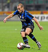 © Filippo Alfero<br /> Inter vs Udinese - Serie A 2009 / 2010<br /> Milano - 03/10/2009<br /> sport calcio<br /> Nella foto: Wesley Sneijder