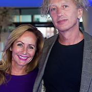 NLD/Amsterdam/20130826 - Nederlandse premiere film Borgman, Angela Groothuizen en partner Rob Mooij