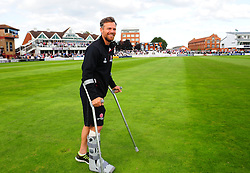 James Hildreth of Somerset walks round the pitch after being hit on the foot.  - Mandatory by-line: Alex Davidson/JMP - 22/09/2016 - CRICKET - Cooper Associates County Ground - Taunton, United Kingdom - Somerset v Nottinghamshire - Specsavers County Championship Division One