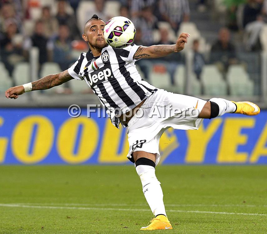 &copy; Filippo Alfero<br /> Juventus-Cesena, Serie A 2014/2015<br /> Torino, 24/09/2014<br /> sport calcio<br /> Nella foto: Arturo Vidal