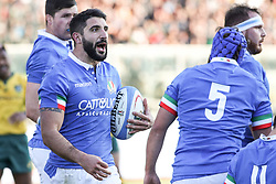November 17, 2018 - Padova, Padova, Italy - Tito Tebaldi during the Test Match 2018 between Italy and Australia at Stadio Euganeo on November 17, 2018 in Padova, Italy. (Credit Image: © Emmanuele Ciancaglini/NurPhoto via ZUMA Press)