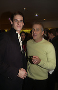 """SAM ARCHER, MARC PLATT . World Premiere of the theatrical production of """"Edward Scissorhands"""" at Sadler's Wells Theatre in London. 30 November 2005. ONE TIME USE ONLY - DO NOT ARCHIVE  © Copyright Photograph by Dafydd Jones 66 Stockwell Park Rd. London SW9 0DA Tel 020 7733 0108 www.dafjones.com"""