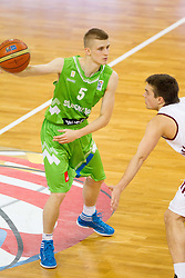 Luka Rupnik of Slovenia during basketball match between National teams of Latvia and Slovenia in Qualifying Round of U20 Men European Championship Slovenia 2012, on July 16, 2012 in Domzale, Slovenia. (Photo by Vid Ponikvar / Sportida.com)