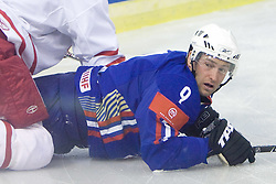 Tomaz Razingar of Slovenia at ice-hockey friendly match between National teams of Slovenia and Denmark, on April 14, 2010, in Tivoli hall, Ljubljana, Slovenia. Denmark defeated Slovenia 5-3. (Photo by Vid Ponikvar / Sportida)