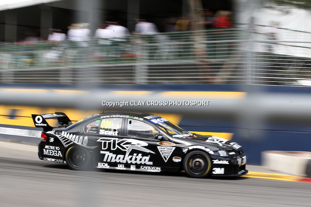 Kayne Scott driving the Team Kiwi Racing Falcon during the Adelaide Clipsal 500 ~ 2008 V8 Supercar Series Round 1 on the Adelaide Street Circuit, South Australia on Saturday 23rd February 2008.<br /> Photo &copy; Clay Cross/PHOTOSPORT