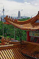 Thean Hou Temple sits high on a hill overlooking Kuala Lumpur.