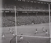 Action from the 1950 All-Ireland Final.