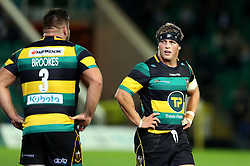 Alex Waller of Northampton Saints looks at Kieran Brookes of Northampton Saints - Mandatory by-line: Robbie Stephenson/JMP - 30/09/2016 - RUGBY - Franklin's Gardens - Northampton, England - Northampton Saints v Exeter Chiefs - Aviva Premiership