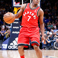 01 November 2017: Toronto Raptors guard Kyle Lowry (7) dribbles during the Denver Nuggets 129-111 victory over the Toronto Raptors, at the Pepsi Center, Denver, Colorado, USA.