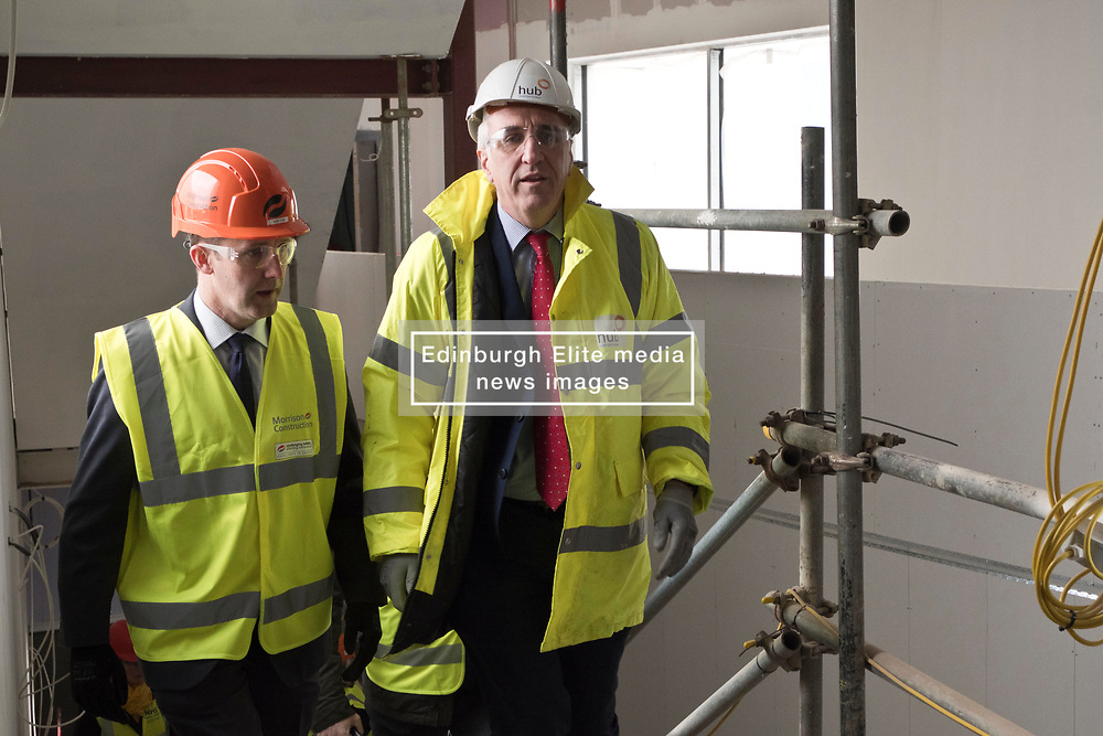 Pictured: Michael Matheson and Hub's Chief Executive Paul McGirk<br /> <br /> Infrastructure Secretary Michael Matheson visited East Lothian Community Hospital's construction site today to give an update on the Scottish Government's infrastructure programme, on the same day as an annual progress report is published<br /> <br /> Ger Harley | EEm 17 April 2019