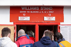 Fans arrive to the Williams Stand before the match - Photo mandatory by-line: Rogan Thomson/JMP - 07966 386802 - 25/01/2015 - SPORT - FOOTBALL - Bristol, England - Ashton Gate Stadium - Bristol City v West Ham United - FA Cup Fourth Round Proper.