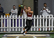 Feb 24, 2017; Seattle, WA, USA; Valerie Allman of Stanford places third in the women's weight throw at 68-5 3/4 (20.87m) during the MPSF Indoor Championships at the Dempsey Indoor.