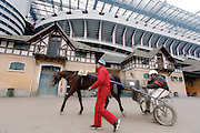 Milano:ore 3.00 pm,  gara di trotto all'ippodromo.