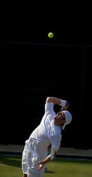 LONDON, ENGLAND - Wednesday, June 23, 2010: Benjamin Becker (GER) during the Gentlemen's Singles 2nd Round match on day three of the Wimbledon Lawn Tennis Championships at the All England Lawn Tennis and Croquet Club. (Pic by David Rawcliffe/Propaganda)