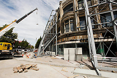 Christchurch-Demolition of earthquake damaged buildings continues in Red Zone