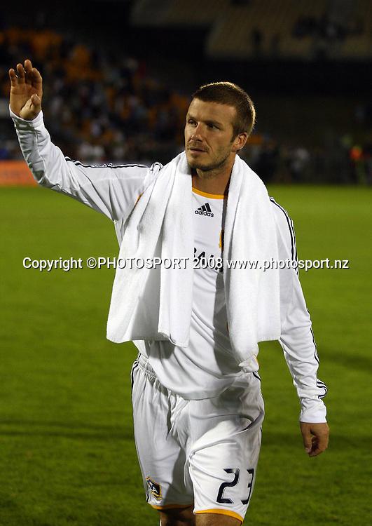 David Beckham. The Beautiful Game, LA Galaxy v Oceania All Stars, Mt Smart Stadium, Auckland. 6 December 2008. Photo: Simon Watts/PHOTOSPORT