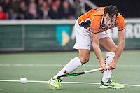 AMSTERDAM - Amsterdam - Oranje Zwart , Wagener Stadion , Hockey , Play-off hoofdklasse hockey heren , 03-05-2015 , Oranje Zwart speler Niek van der Schoot