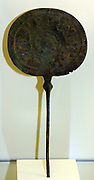 mirror made in bronze 10.th to 8 th century BC; Greek