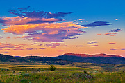 Sunset on the Grasslands. Thompson Valley, Kamloops, British Columbia, Canada
