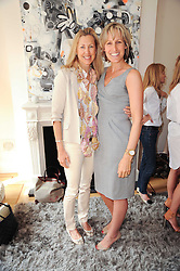 Left to right, Countess Catrina Guerrini-Maraldi and Santa Sebag-Montefiore at a party hosted by Maria Hatzistefanis to celebrate the publication of Santa Montefiore's new book 'The Affair' held at 35 Walpole Road, London on 27th April 2010.