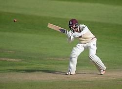 Somerset's Tom Abell hits the ball.. - Mandatory byline: Alex James/JMP - 07966386802 - 09/09/2015 - FOOTBALL -  - The County Ground - Taunton  - Somerset v Hampshire - LV CC -