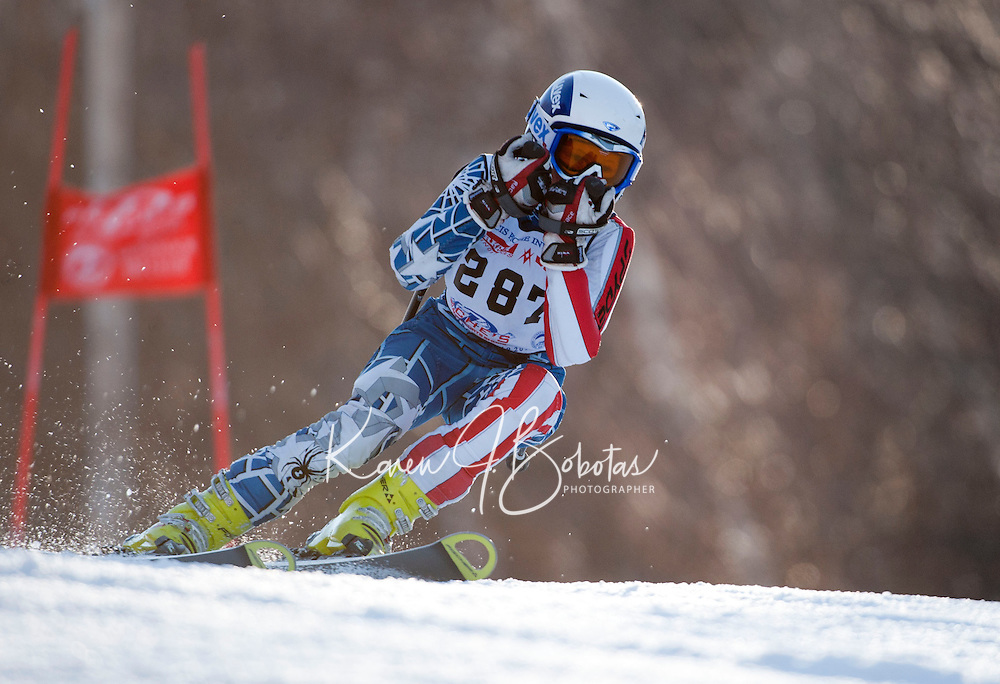 2nd run of the Piche Invitational alpine race at Gunstock Mountain Resort  March 19, 2011.