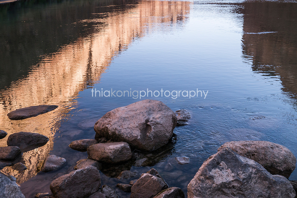 Reflections of Grand Canyon on Colorado River, AZ