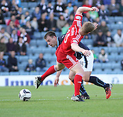 Dundee's Paul McGowan goes past Aberdeen's Barry Robson - Dundee v Abderdeen, SPFL Premiership at Dens Park<br /> <br />  - &copy; David Young - www.davidyoungphoto.co.uk - email: davidyoungphoto@gmail.com