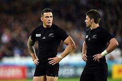 Sonny Bill Williams of New Zealand looks on - Mandatory byline: Patrick Khachfe/JMP - 07966 386802 - 24/09/2015 - RUGBY UNION - The Stadium, Queen Elizabeth Olympic Park - London, England - New Zealand v Namibia - Rugby World Cup 2015 Pool C.