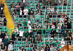 Celtic fans gathered in the standing section before the UEFA Champions League match at Celtic Park, Glasgow. PRESS ASSOCIATION Photo. Picture date: Wednesday July 18. 2017. See PA Story SOCCER Celtic. Photo credit should read: Robert Parry/PA Wire.