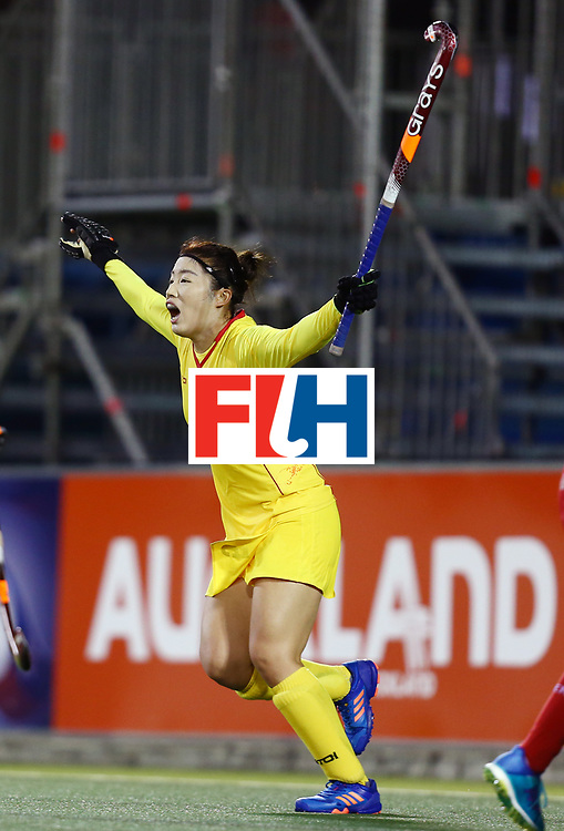 New Zealand, Auckland - 21/11/17  <br /> Sentinel Homes Women&rsquo;s Hockey World League Final<br /> Harbour Hockey Stadium<br /> Copyrigth: Worldsportpics, Rodrigo Jaramillo<br /> Match ID: 10302 - ENG vs CHN<br /> Photo: (5) LI Jiaqi