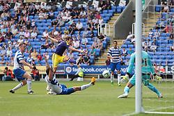 Swansea City midfielder Michu (9) tries a shot during the pre-season friendly game between Reading and Swansea City.  Photo mandatory by-line: Nigel Pitts-Drake/JMP  - Tel: Mobile:07966 386802 27/07/2013 - Reading v  Swansea City  - SPORT - FOOTBALL - pre-season - Reading - Madejski Stadium