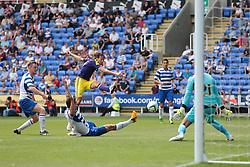 Swansea City midfielder Michu (9) tries a shot during the pre-season friendly game between Reading and Swansea City.  Photo mandatory by-line: Nigel Pitts-Drake/JMP  - Tel: Mobile:07966 386802 27/07/2013 - Reading v  Swansea City  - SPORT - FOOTBALL - pre-season - Reading - Madejski Stadium