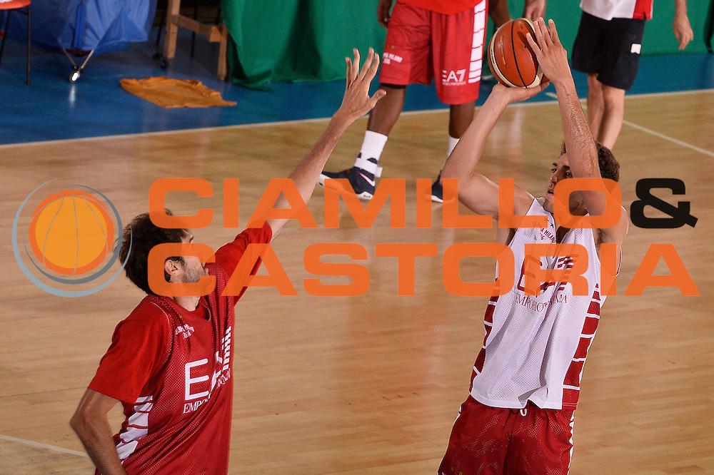 Ruben Calo'<br /> EA7 Emporio Armani Olimpia Milano allenamento<br /> Lega Basket Serie A 2016/2017<br /> Bormio 25/08/2016<br /> Foto Ciamillo-Castoria
