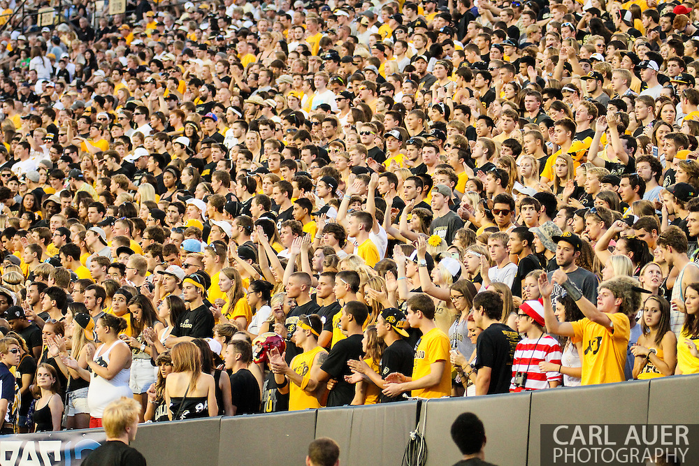 September 7th, 2013 - Can you find Waldo in the Colorado student section during the NCAA football game between the University of Central Arkansas Bears and the University of Colorado Buffaloes at Folsom Field in Boulder, CO