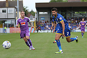 George Francomb of AFC Wimbledon during the Sky Bet League 2 match between AFC Wimbledon and Plymouth Argyle at the Cherry Red Records Stadium, Kingston, England on 8 August 2015. Photo by Stuart Butcher.
