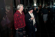 LYNN BARBER; MAGGI HAMBLING, Launch of Nicky Haslam's book Redeeming Features. Aqua Nueva. 5th floor. 240 Regent St. London W1.  5 November 2009.  *** Local Caption *** -DO NOT ARCHIVE-© Copyright Photograph by Dafydd Jones. 248 Clapham Rd. London SW9 0PZ. Tel 0207 820 0771. www.dafjones.com.<br /> LYNN BARBER; MAGGI HAMBLING, Launch of Nicky Haslam's book Redeeming Features. Aqua Nueva. 5th floor. 240 Regent St. London W1.  5 November 2009.