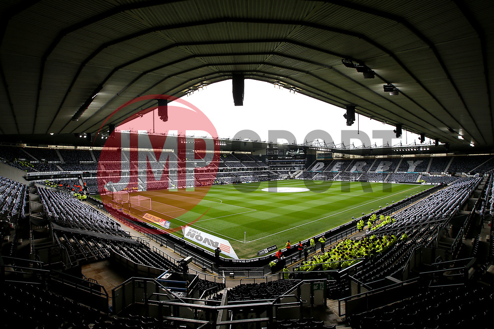 A general view of Pride Park Stadium, home to Derby County ahead of the Playoff Semi-Final first leg against Fulham - Mandatory by-line: Robbie Stephenson/JMP - 11/05/2018 - FOOTBALL - Pride Park Stadium - Derby, England - Derby County v Fulham - Sky Bet Championship