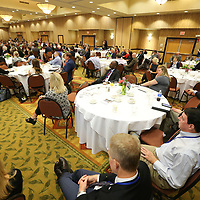 Hundreds pack into the BancorpSouth Center Thursday for the Appalachian Regional Commission Smmitt in Tupelo.