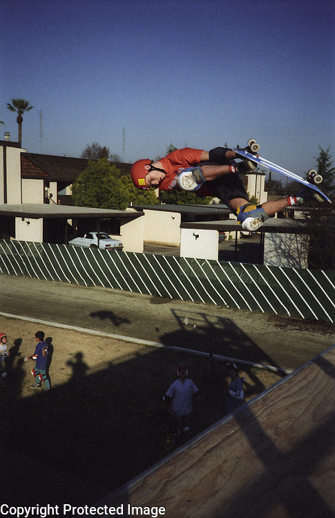 "Hugh ""Bod"" Boyle catches air at the YMCA ramp in 1987."