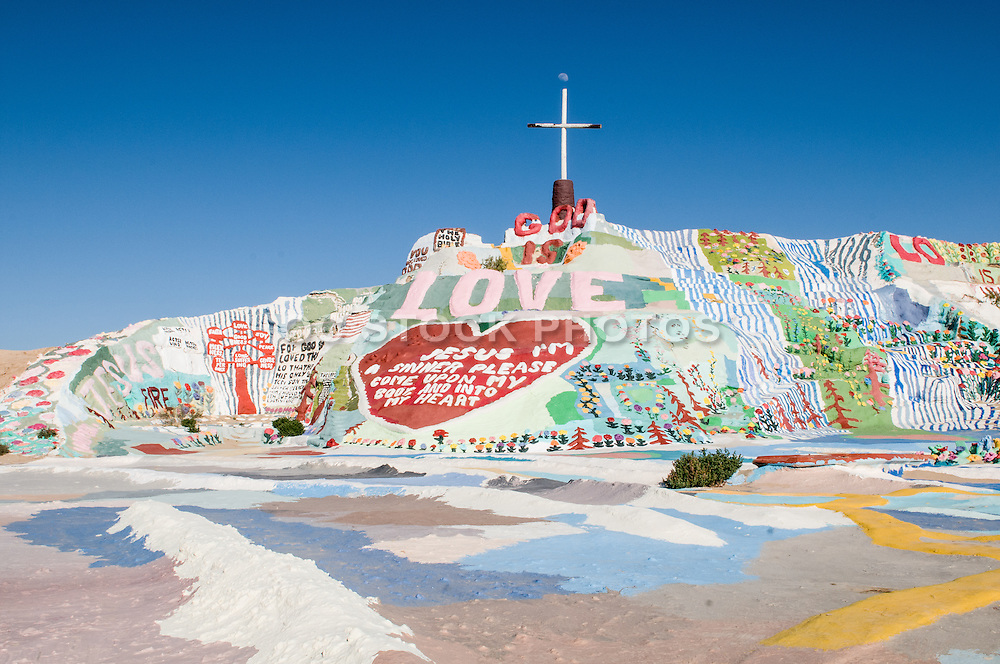 Leonard Knight's Salvation Mountain in Niland California