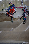 #148 (VAN GENDT Twan) NED at Round 2 of the 2018 UCI BMX Superscross World Cup in Saint-Quentin-En-Yvelines, France.