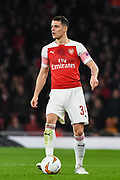Arsenal Midfielder Granit Xhaka (34) during the Europa League round of 16, leg 2 of 2 match between Arsenal and Rennes at the Emirates Stadium, London, England on 14 March 2019.