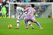 Readings Danny Williams battles for the ball during the Sky Bet Championship match between Milton Keynes Dons and Reading at stadium:mk, Milton Keynes, England on 16 January 2016. Photo by Dennis Goodwin.