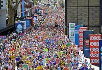 Athletes at Cutty Sark during The Virgin Money London Marathon 2014 on Sunday 13 April 2014<br /> Photo: David Ashdown/Virgin Money London Marathon<br /> media@london-marathon.co.uk