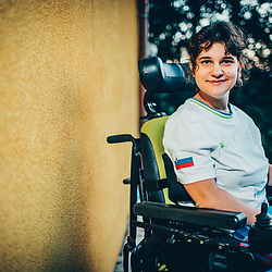 20170808: SLO, Boccia - Portrait of athlete Ajsa Perme
