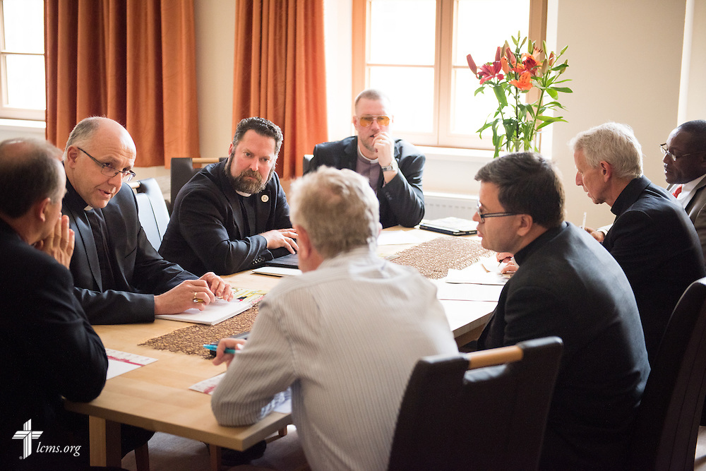 The Executive Committee of the International Lutheran Council meets Wednesday, May 6, 2015, at The International Lutheran Center at the Old Latin School in Wittenberg, Germany. LCMS Communications/Erik M. Lunsford